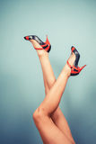 Sexy female legs in high heels Royalty Free Stock Photos