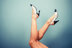 Sexy female legs in high heels Stock Image
