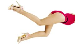 Sexy female legs Royalty Free Stock Image