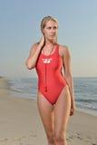 Sexy female lifeguard on beach Royalty Free Stock Photo
