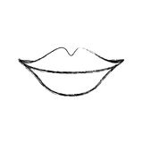 Sexy female lips icon. Vector illustration design Stock Photos