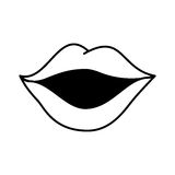 Sexy female lips icon Royalty Free Stock Image