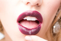 Sexy female lips Stock Images