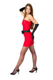 Sexy female in little red dress Royalty Free Stock Image