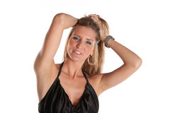 Sexy Female Model. On White Isolated Background Stock Photos