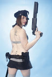 Sexy female police officer Stock Image