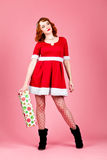 Sexy female Santa Royalty Free Stock Photos