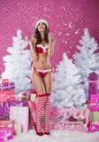 Sexy female santa claus Royalty Free Stock Photos