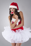 Sexy female santa claus Stock Image