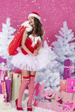 Sexy female santa claus Royalty Free Stock Images