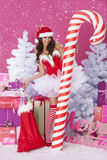 Sexy female santa claus Royalty Free Stock Image