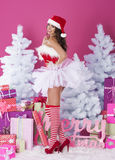 Sexy female santa claus Stock Photography