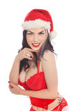 Sexy female Santa Royalty Free Stock Images