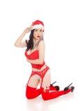 Sexy female Santa Stock Photo
