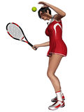 Sexy Female Tennis Player Royalty Free Stock Photography