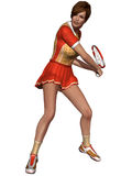 Sexy Female Tennis Player Royalty Free Stock Photo