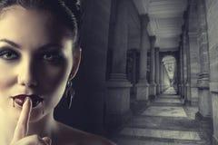 Sexy female vampire Stock Image