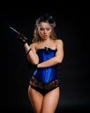 Sexy female vintage dancer Stock Photos