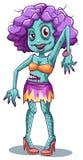 A sexy female zombie Stock Photos