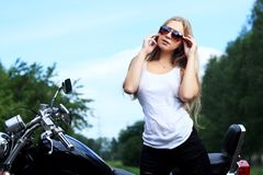 Sexy fietser royalty-vrije stock fotografie