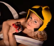 Sexy firewoman Royalty Free Stock Photo