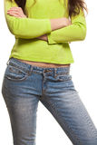 Sexy, Fit Woman In Jeans Stock Image