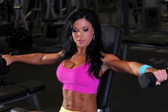 Fitness girl. Working out stock photography