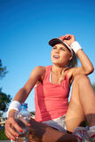 fitness girl outdoor Royalty Free Stock Photos
