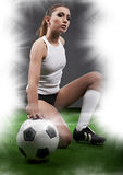 Sexy football player Stock Photos