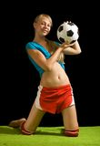 Sexy football player Stock Images