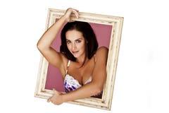 Sexy frame vrouw. Stock Foto