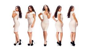 Sexy Frau der Collage fünf lizenzfreie stockfotografie