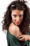 Sexy Frau, die ihre Schulter zeigt. Lizenzfreie Stockbilder