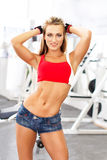 Sexy fresh blonde fitness model Stock Images