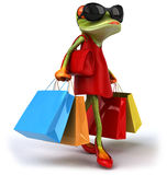Sexy frog. Fun sexy frog, 3d generated Stock Photography