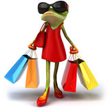 Sexy frog. Fun sexy frog, 3d generated Stock Images