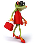 Sexy frog. Fun sexy frog, 3d generated Stock Photos