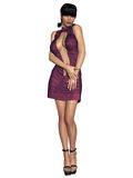 Sexy front open dress. 3d render of a sexy front open dress Stock Images