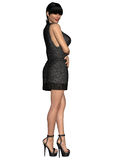 Sexy front open dress. 3d render of a sexy front open dress Royalty Free Stock Image