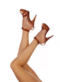 Sexy and funny legs in shoes Stock Image