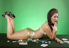 Sexy Gambler Royalty Free Stock Image
