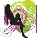 Sexy girl. Illustration of sexy girl with an abstract background Stock Photo