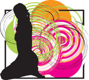 Sexy girl. Illustration of sexy girl with an abstract background Stock Images
