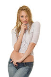 Sexy girl. Sexy girl in wet clothes Royalty Free Stock Photo