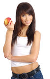 Sexy girl with apple Stock Image