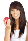 Sexy girl with apple Royalty Free Stock Photos