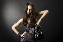girl with a bag Stock Photography