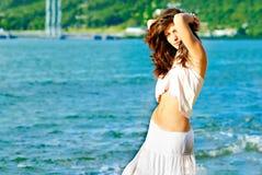 Sexy girl at a beach Stock Photo