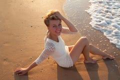 Sexy girl on  beach Royalty Free Stock Photo