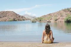 Sexy girl in bikini Stock Images